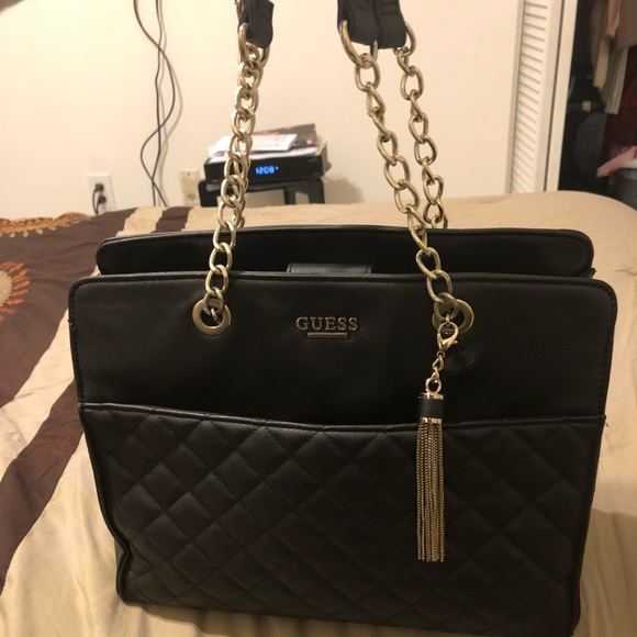 Guess quilted handbag with tassel